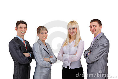 Happy smiling successful business team