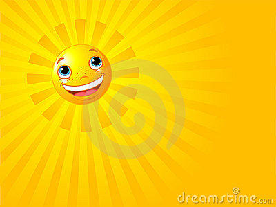 Happy Smiling Sun Summer Background
