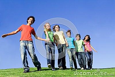 Happy smiling teenagers