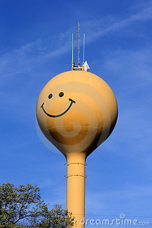 Happy Smiling Water Tower