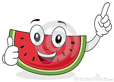 Happy Smiling Watermelon Character