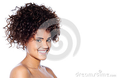 Happy smiling woman enjoying the freshness