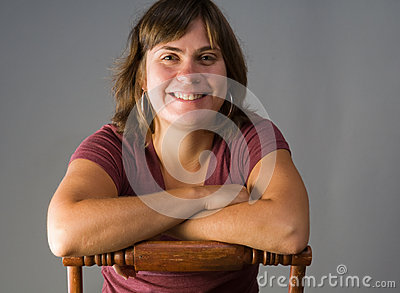 Happy, smiling woman