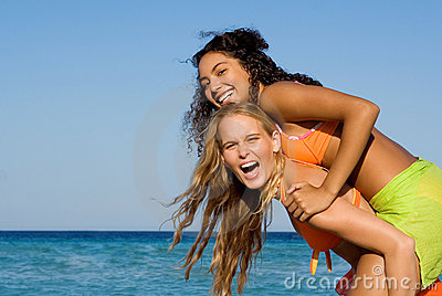 Happy smiling young women