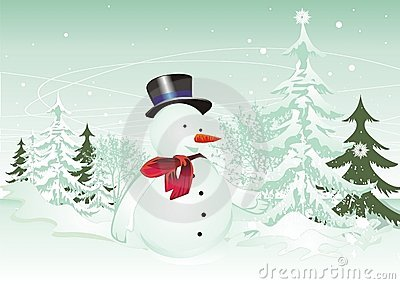 Happy snowman illustration
