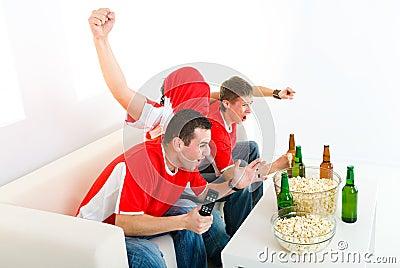 Happy sport fans
