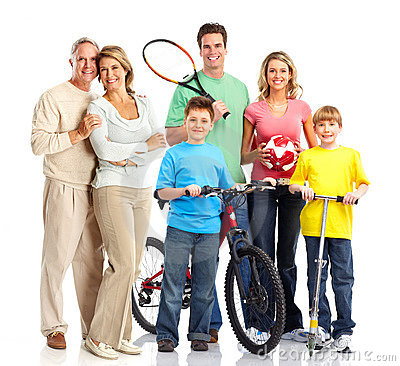 Free Happy Sportive Family Royalty Free Stock Photos - 13903678