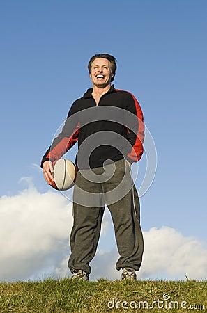 Happy sportsman.