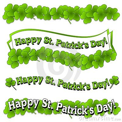 Happy St. Patrick s Day Banners Logos