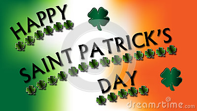 Happy St. Patrick s Day Clovers Sign