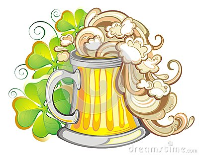 Happy St Patricks day party poster invite