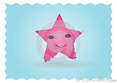 Happy star character