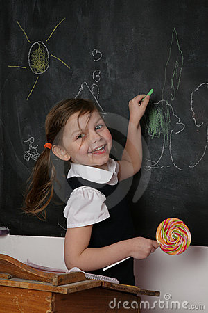 Happy Student at Blackboard