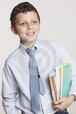 Happy student ready for school