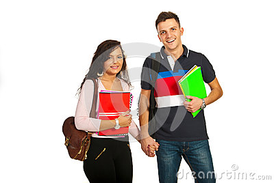 Happy students couple