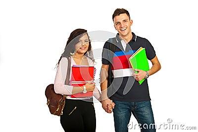 Happy students couple