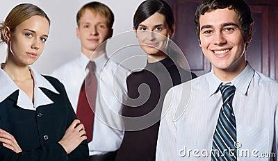 Happy succesful business team
