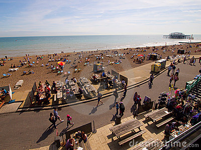 Happy summer holiday in Brighton Beach Editorial Photography