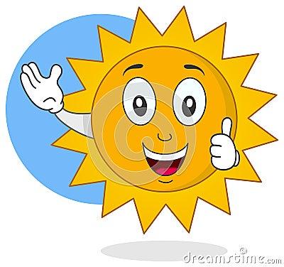 Happy Summer Sun Character