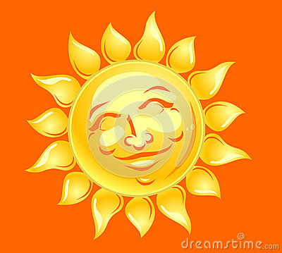 Happy Sun Face