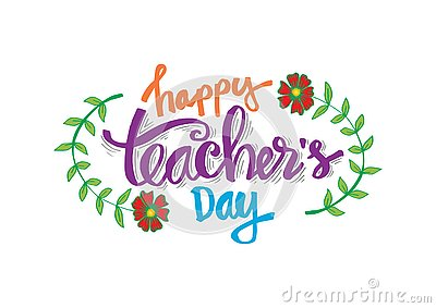 Happy teacher`s day Stock Photo