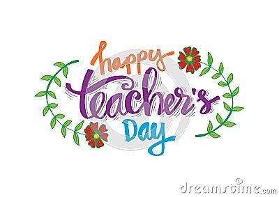 Happy teacher`s day Vector Illustration