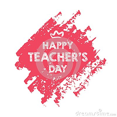 Free Happy Teacher`s Day Layout Design With Flower Card Stock Photo - 124465140