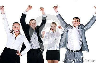 Happy team