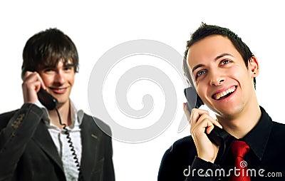 Happy technical support operators
