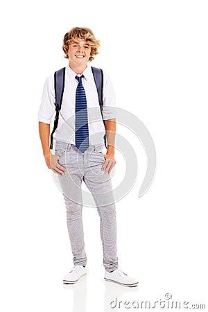 Happy teen boy