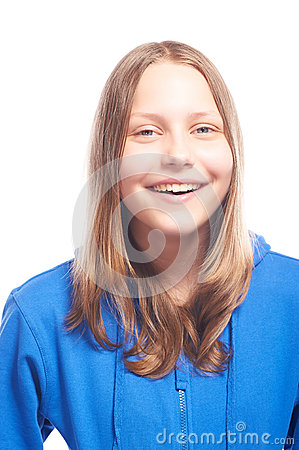 Free Happy Teen Girl Laughing Royalty Free Stock Images - 41628389