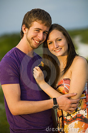 Happy teenage couple