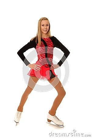 Happy Teenage Figure Skater