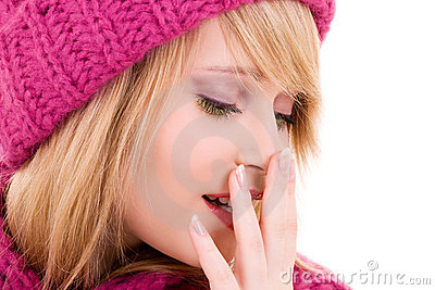 Happy Teenage Girl In Hat Royalty Free Stock Photography - Image: 11783417