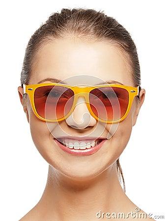 Happy teenage girl in shades
