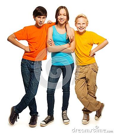 Happy teenage kids Stock Photo