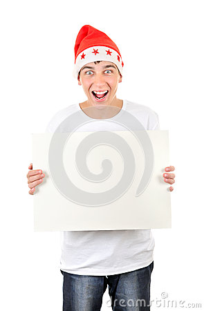 Happy Teenager with White Board