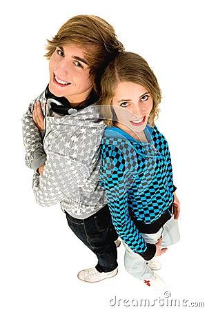 Happy teenagers