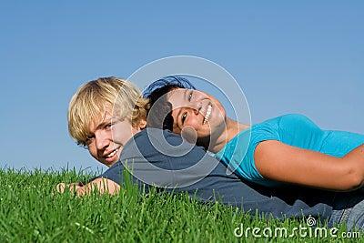 Happy teenagers in summer