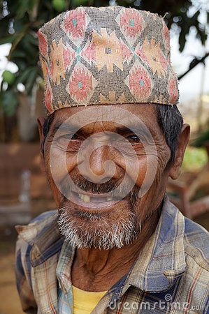 Free Happy Teeth Less Nepali Man Stock Photo - 80903540