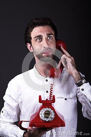 A happy telephoneman
