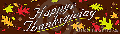 Happy Thanksgiving Banner Vector Illustration