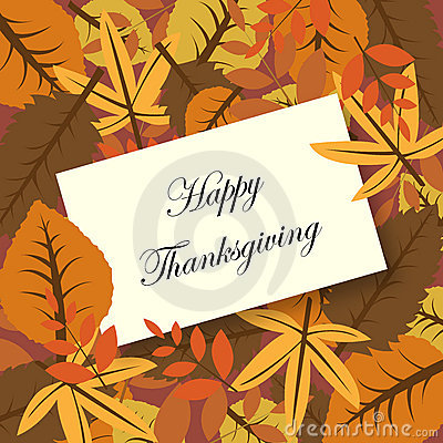 Free Happy Thanksgiving Card Royalty Free Stock Images - 16093279