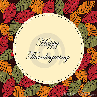 Free Happy Thanksgiving Card Royalty Free Stock Photos - 16364348