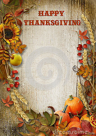 Free Happy Thanksgiving Card Stock Images - 78885524