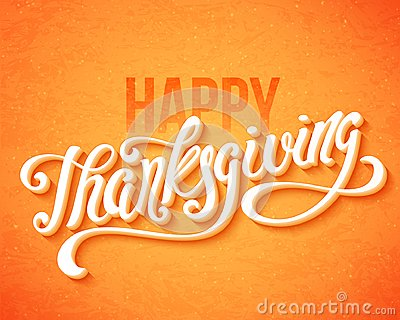 Happy Thanksgiving Day. Vector Illustration