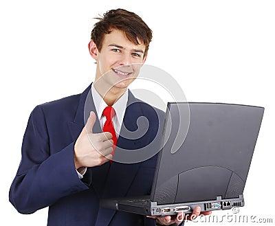 Happy thumbs up guy