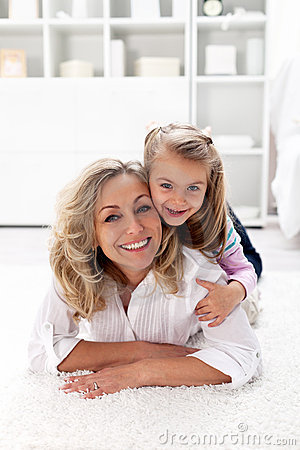 Happy times - little girl with her mother
