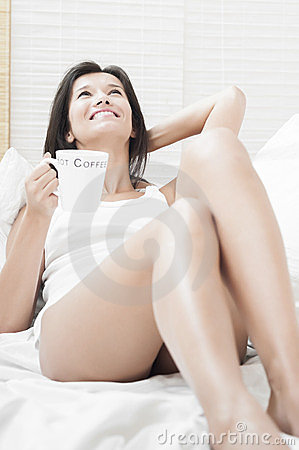 Happy to drink coffee