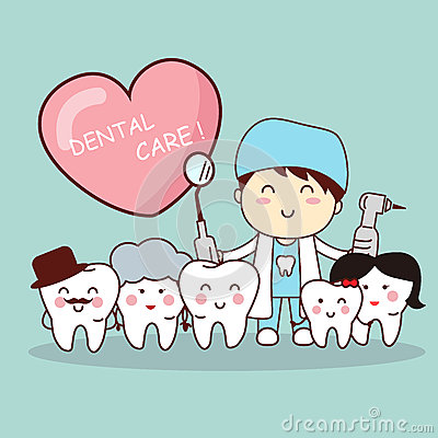 Free Happy Tooth Family With Dentist Royalty Free Stock Photos - 65474778